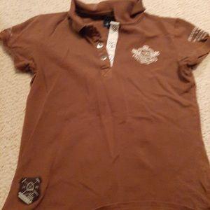 Other - Brown polo shirt
